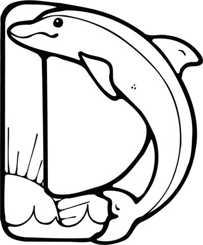 398x480 Dolphins Coloring Pages Click To See Printable Version Of Letter D