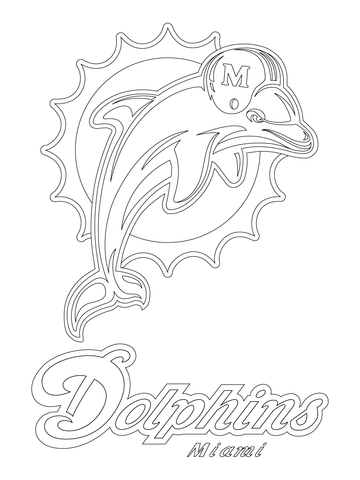 360x480 Miami Dolphins Logo Coloring Page Free Printable Coloring Pages