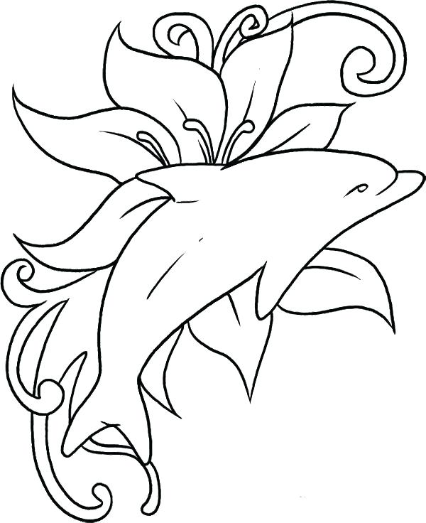 600x736 Printable Dolphin Coloring Pages Printable Dolphin Coloring Pages