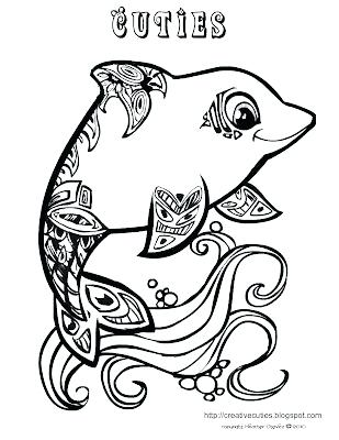 309x400 Coloring Pages Of Dolphins Printable Plus Cute Coloring Pages