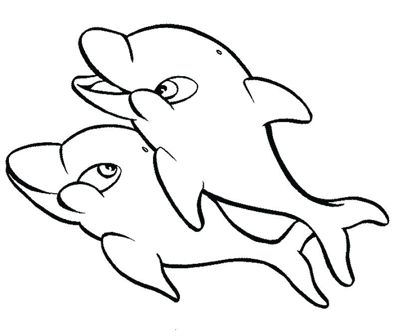 817x675 Dolphin Coloring Book Dolphin Coloring Pages Miami Dolphin
