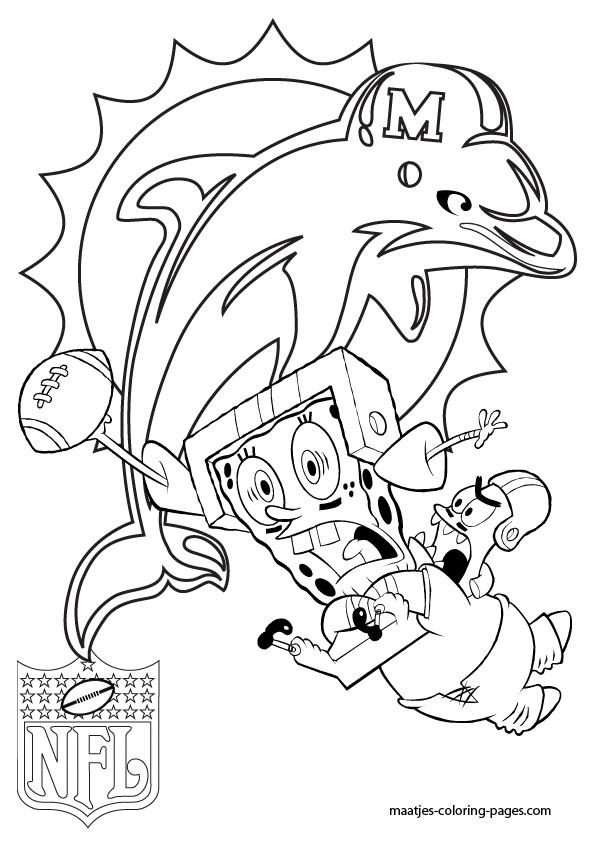 595x842 It S Here Miami Dolphins Coloring Pages Learn How To Draw Logo Nfl