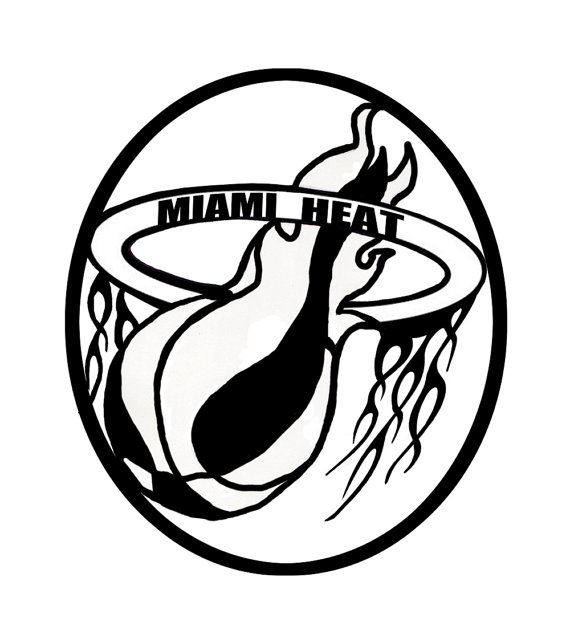 Miami Heat Logo Drawing