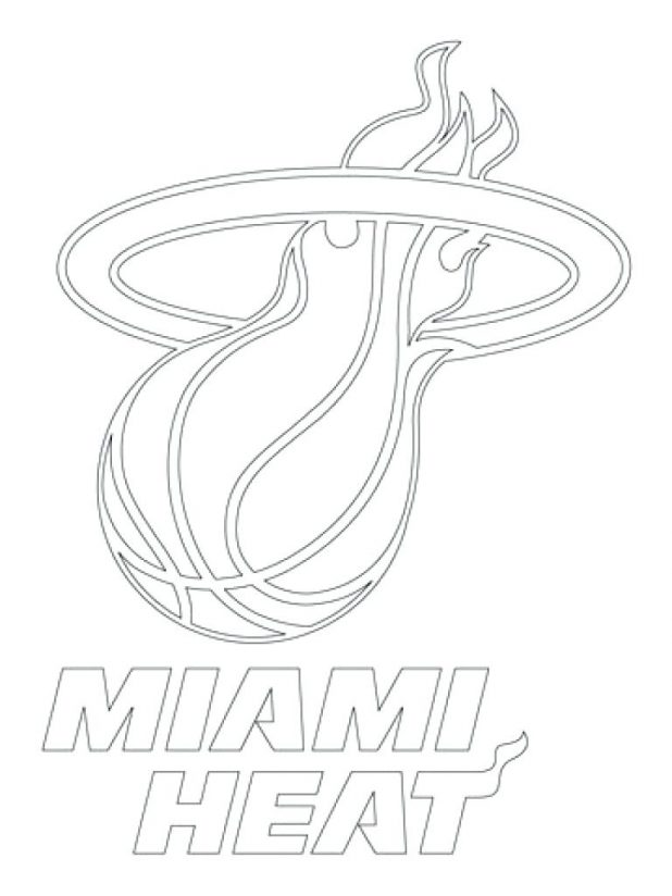 618x824 Free Printable Miami Heat Coloring Pages Coloring Page