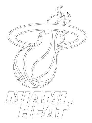 360x480 Miami Heat Coloring Pages Coloring Pages Miami Heat Logo Coloring