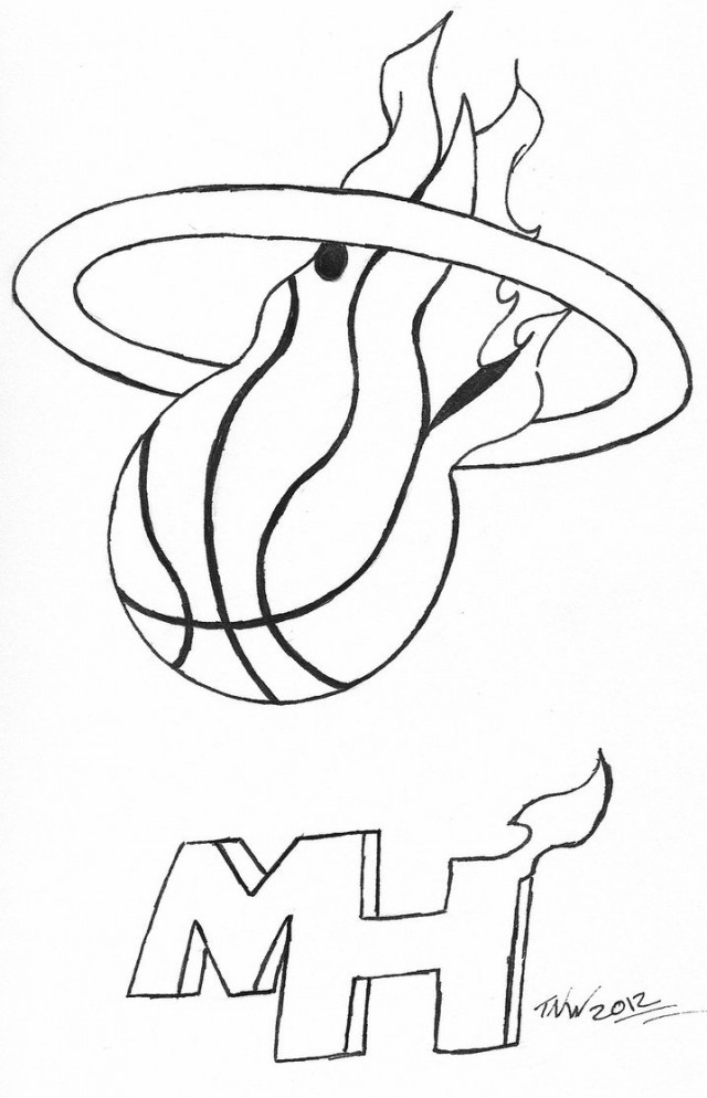 640x994 Miami Heat Coloring Pictures Miami Heat Basketball Coloring Pages