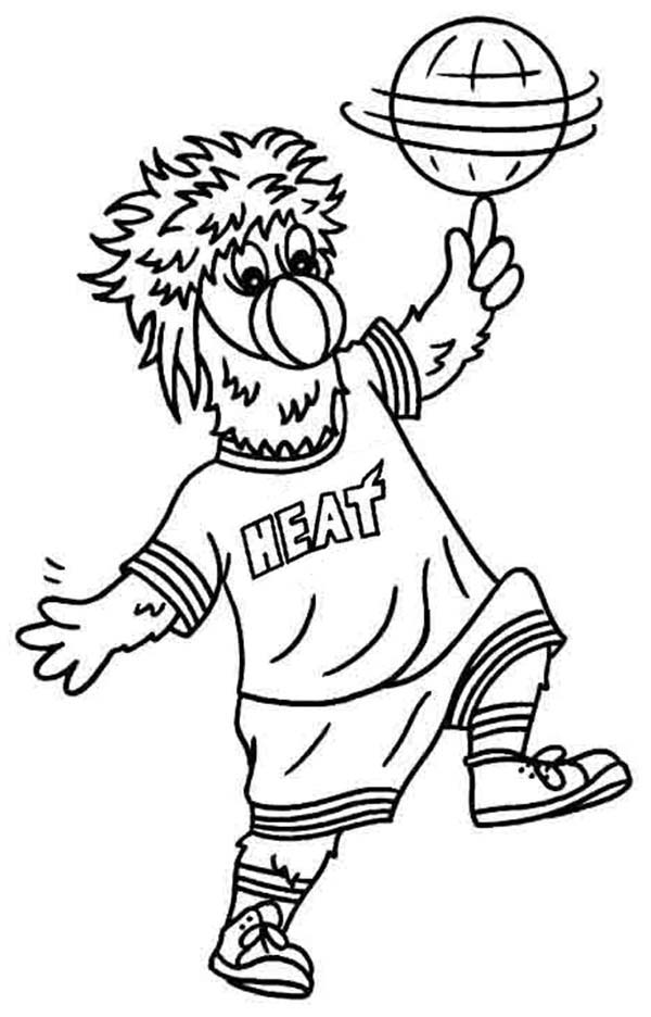 670x733 Miami Heat Logos Pictures403980 600x936 Mascot In NBA Coloring Page Color Luna