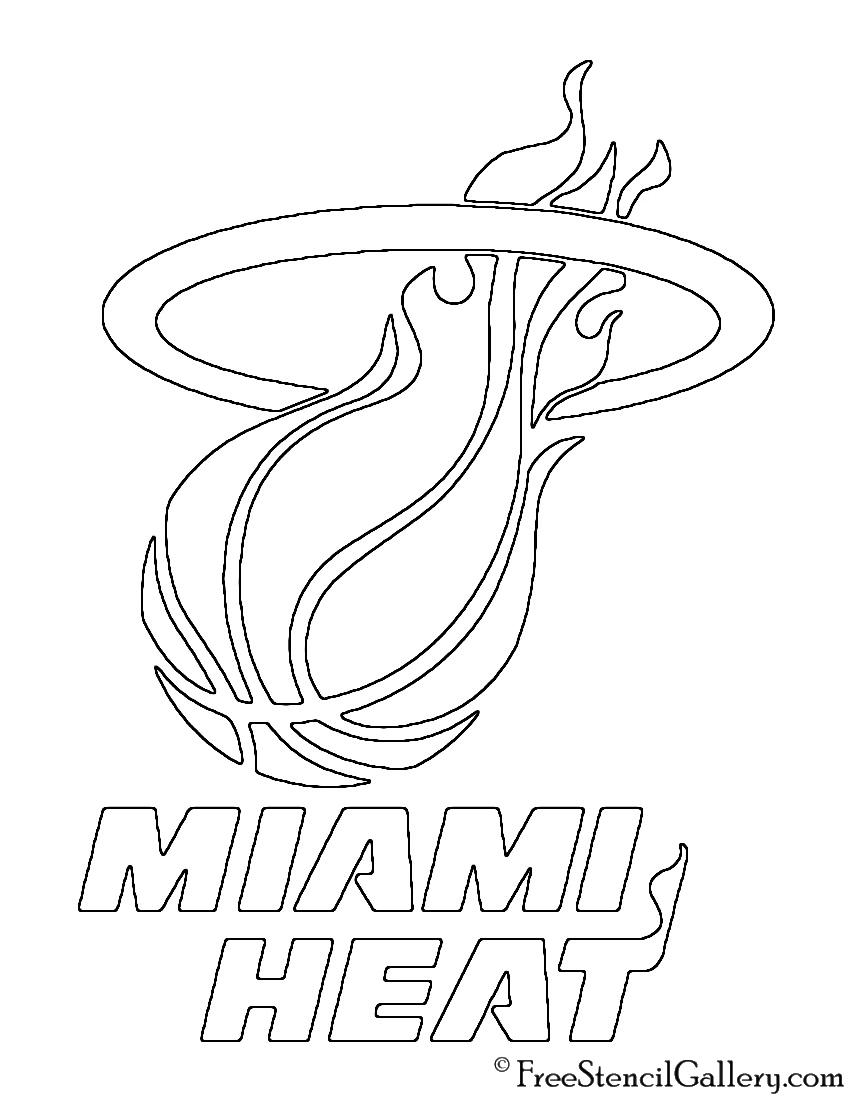 850x1100 Nba Miami Heat Logo Stencil Free Stencil Gallery