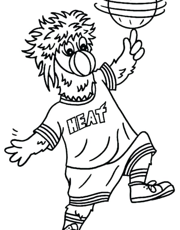 600x768 Miami Heat Coloring Pages
