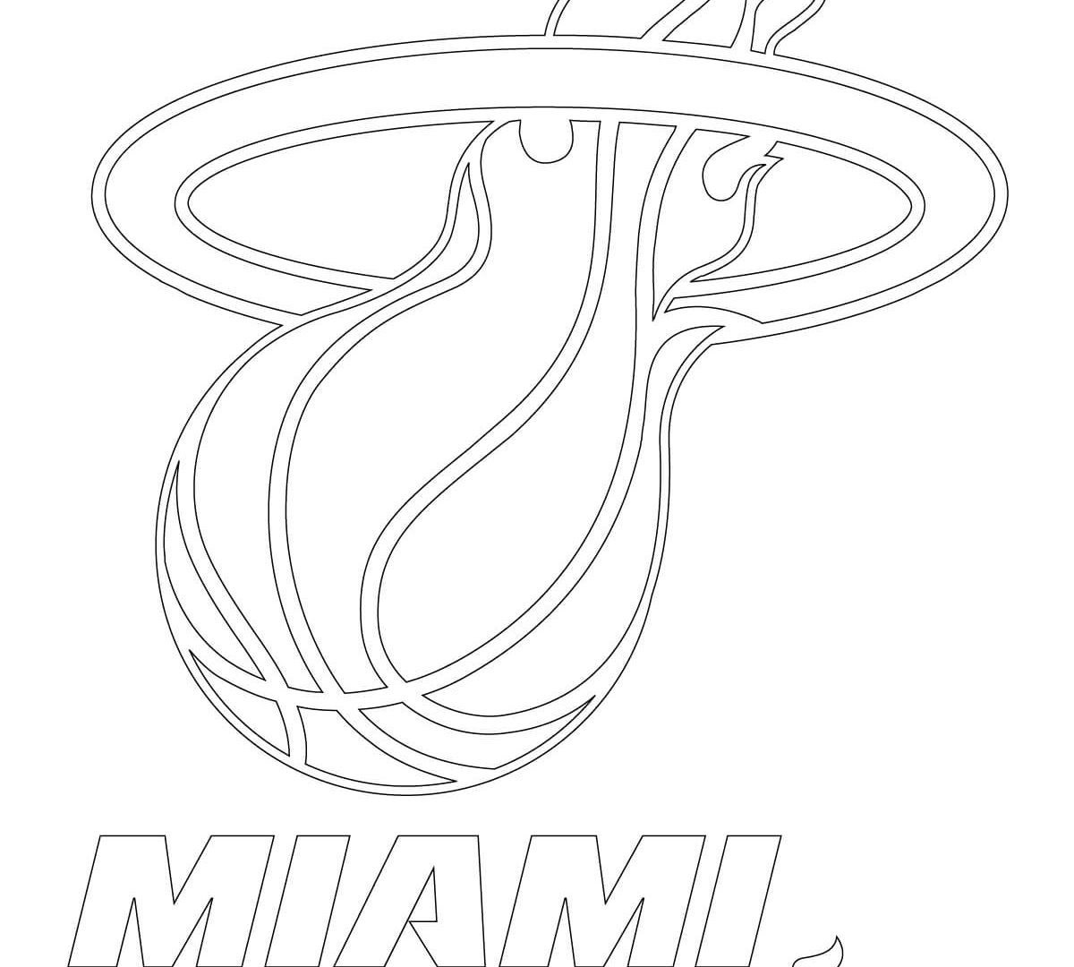 1200x1080 Coloring Outstanding Nba Miami Heat And Logo Pages General