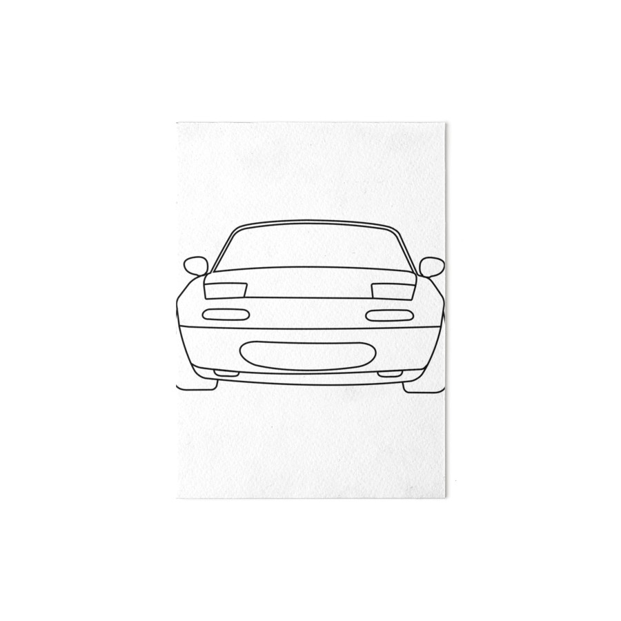Miata Drawing At Free For Personal Use Slave Cylinder Engine Diagram 900x900 Mx5 Line Black Art Boards By Fjezzefurr Redbubble