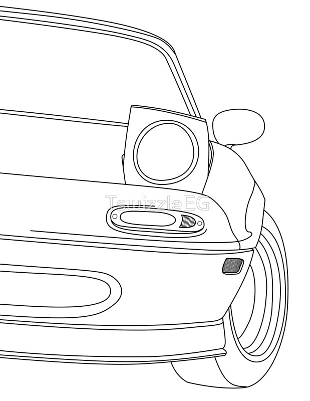 Miata Drawing At Getdrawings Com
