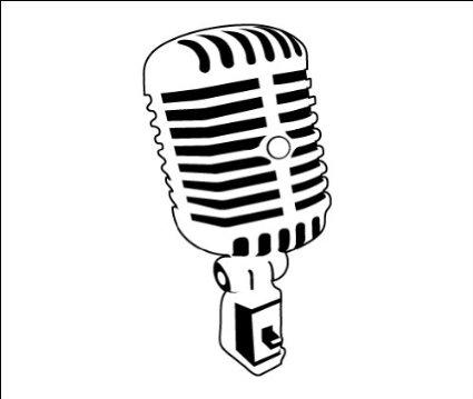 425x359 Microphone Tattoo Flash