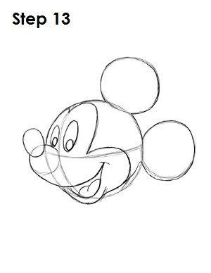 300x388 Draw Mickey Mouse Step 13 Drawing, Stenciling, Painting, Etc