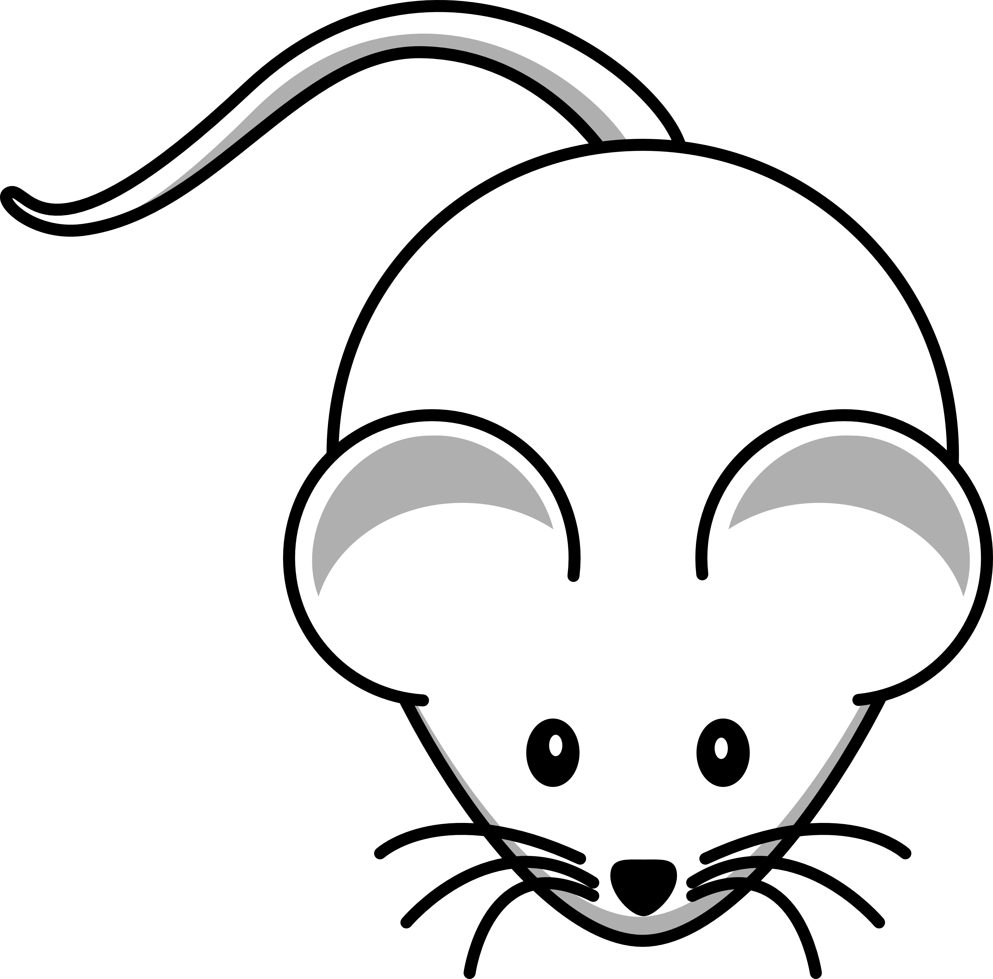3333x3287 Mice Clipart Line Drawing