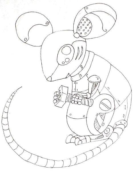 473x600 Robotic Animal Drawings