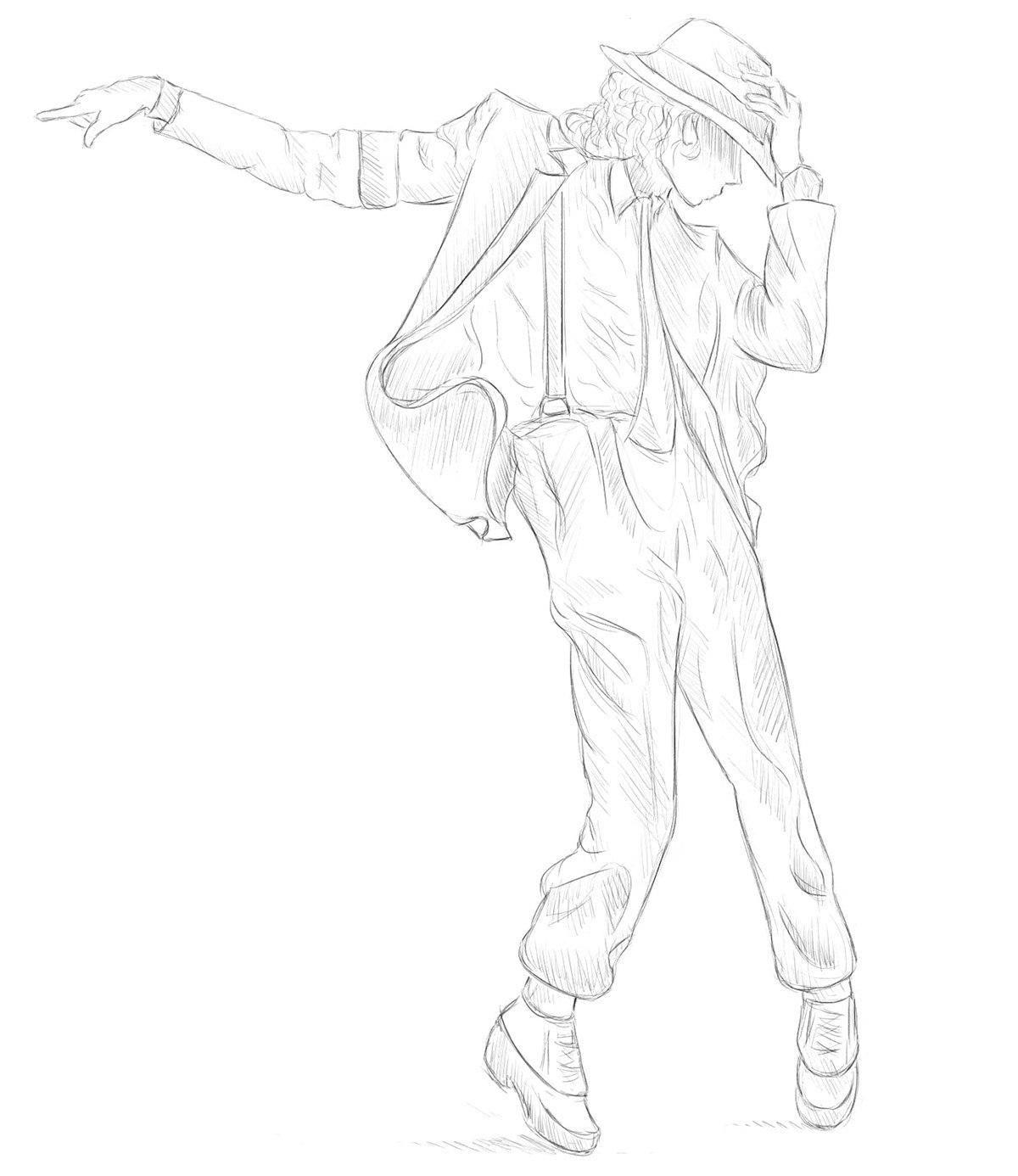 1200x1386 Drawings Of Michael Jackson Dancing Michael Jackson Montage Pt 2