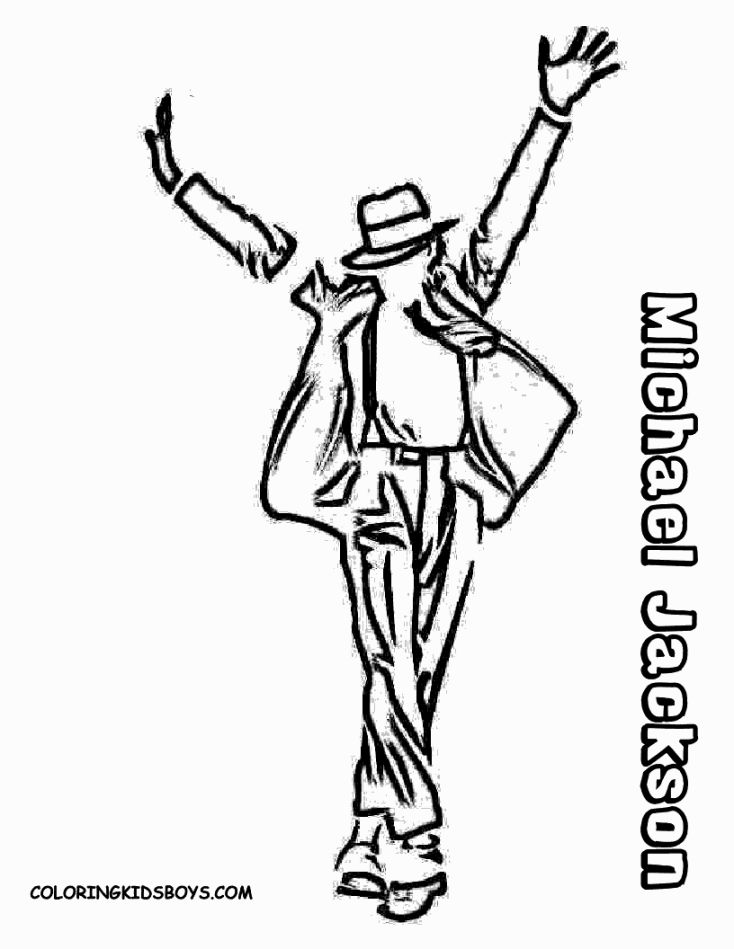 734x949 Michael Jackson Coloring Pages Coloring Pages