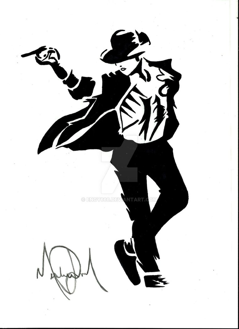 how to draw michael jackson dancing
