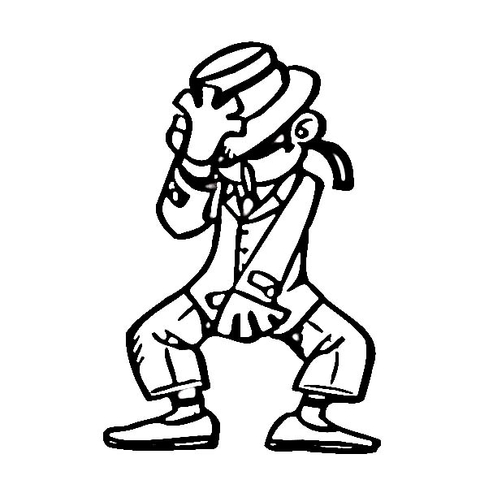 480x480 Michael Jackson Dancing Style Coloring Page Free Printable