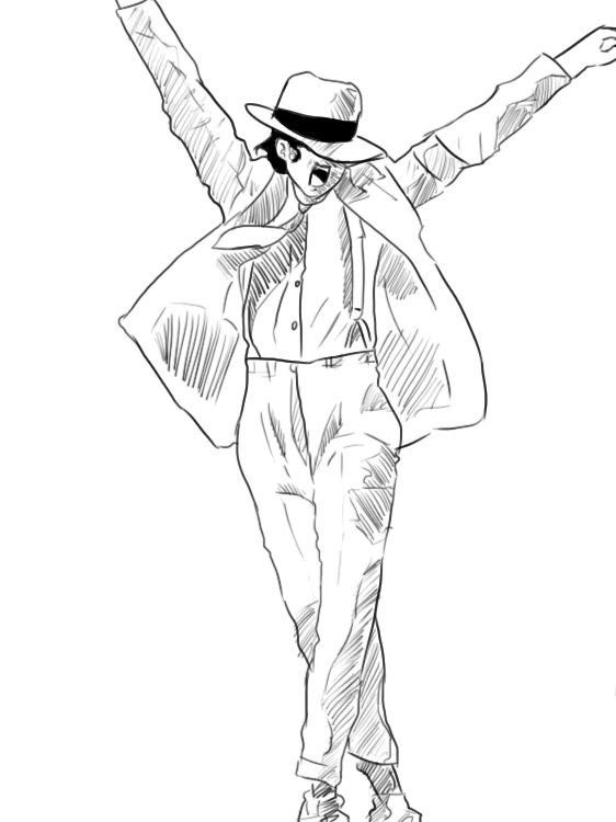 michael jackson coloring pages to print - michael jackson dancing drawing at free