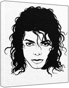 234x300 Michael Jackson Poprt Painting (100% Original Painting. Not