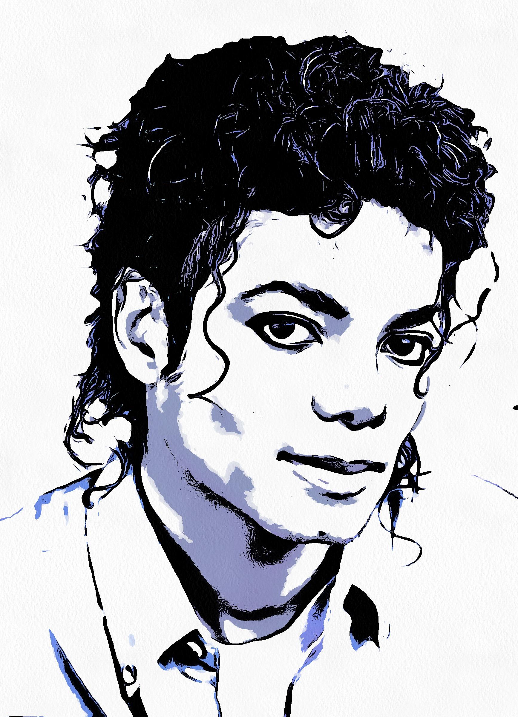 1734x2400 Michael Jackson Black And White Drawing
