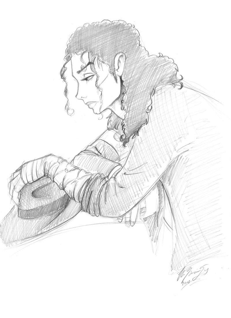 800x1101 Michael Jackson Sketch By Lizardbeth