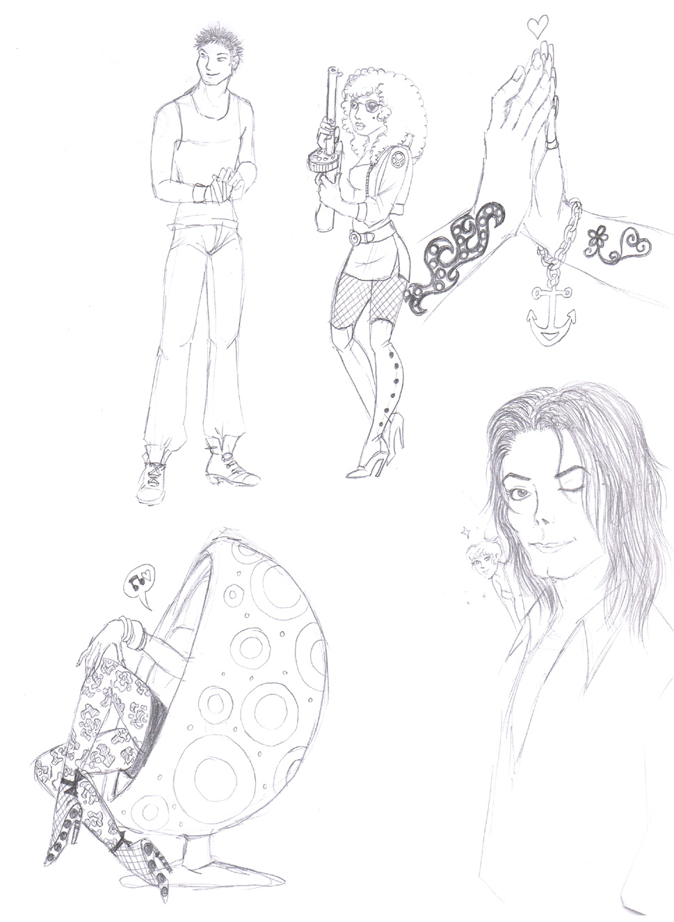 969x1325 Sketch 30 Feat Michael Jackson By Bloodybess