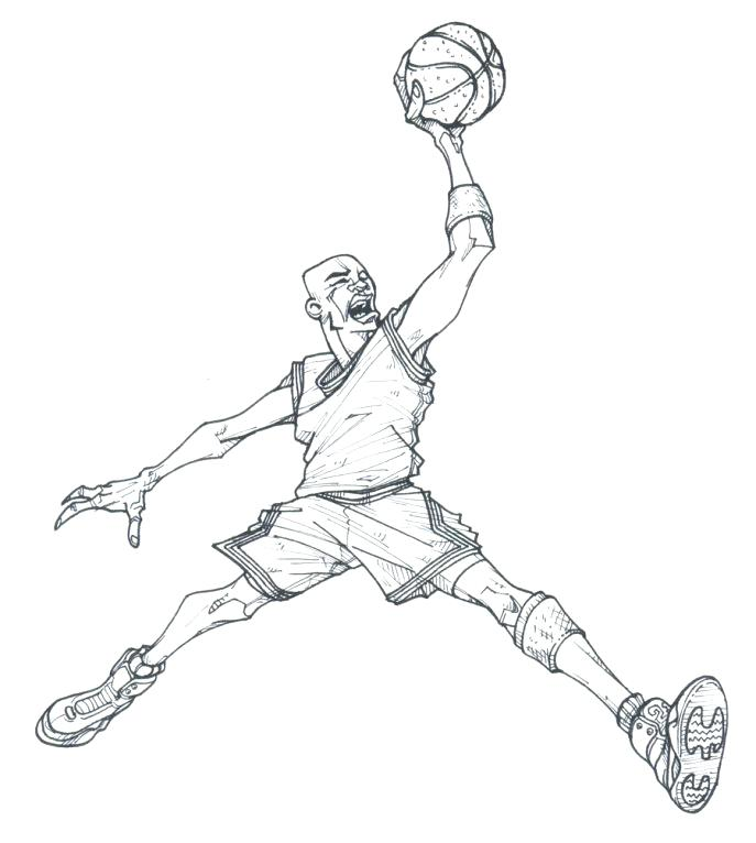 687x766 Good Michael Jordan Coloring Pages Online Tremendous Air Book