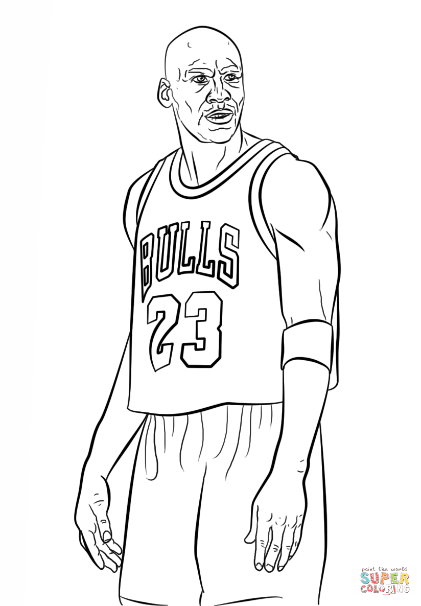 824x1186 Michael Jordan Coloring Page Free Printable Coloring Pages
