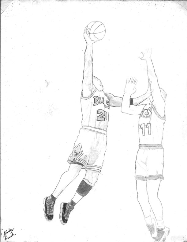 611x789 Michael Jordan Sketch By Slizzie