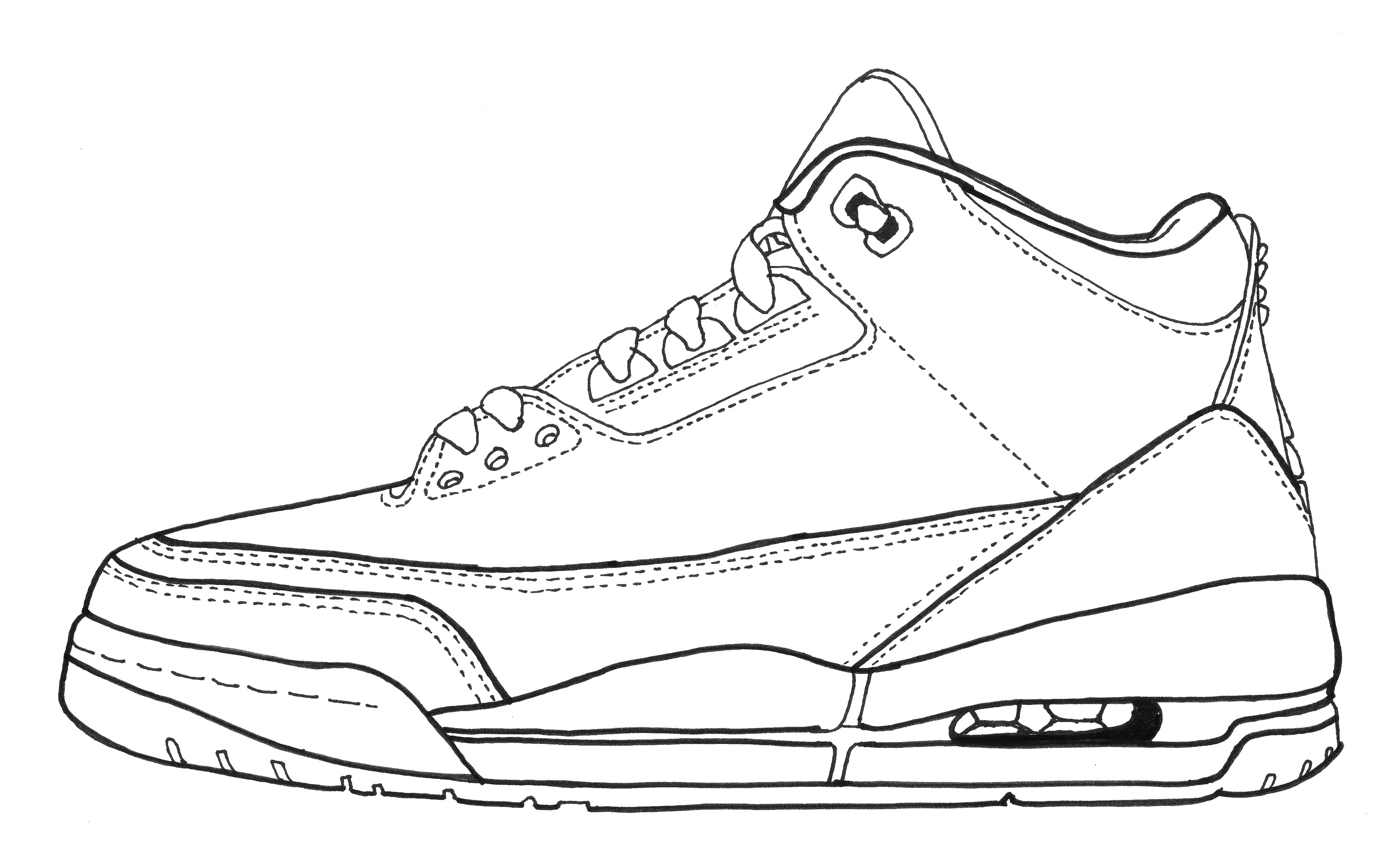 3196x1971 Drawings Of Air Jordan 3 Model Aviation