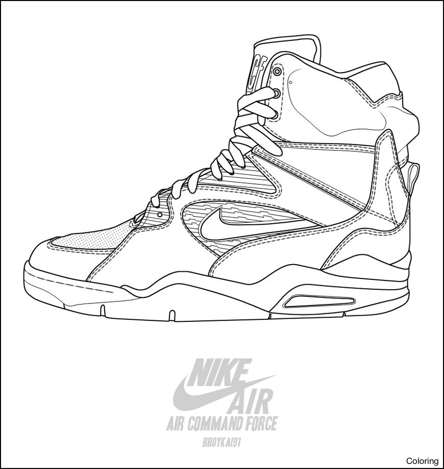 870x918 Clothes And Shoes Coloring Pages Inside Jordan In Shoe Nike 13f