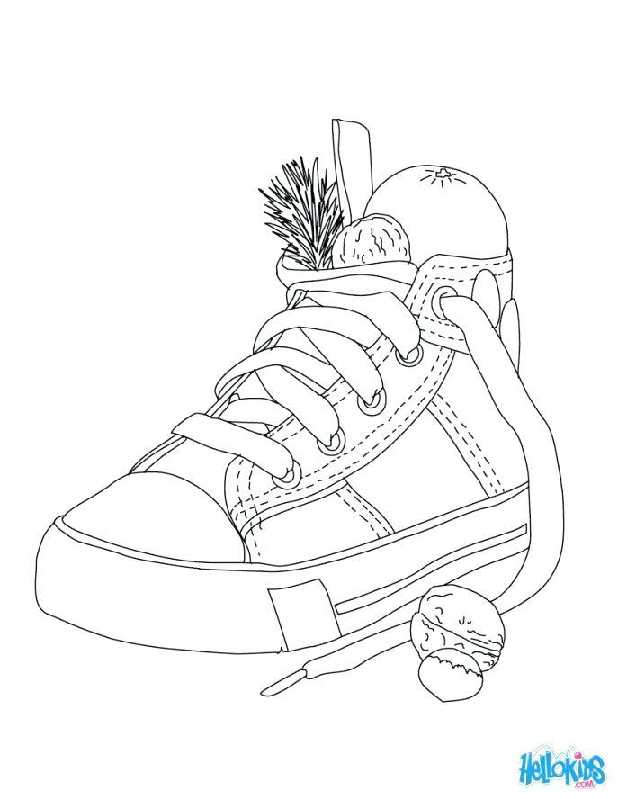 Encantador Jordania Para Colorear Zapatos Ilustración - Páginas Para ...