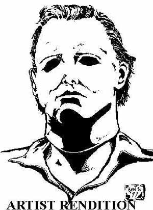 300x412 Exciting Michael Myers Coloring Pages 86 On Line Drawings