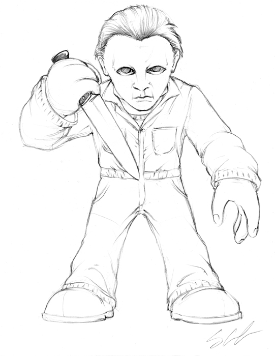 Michael myers drawing at free for for Michael myers coloring pages