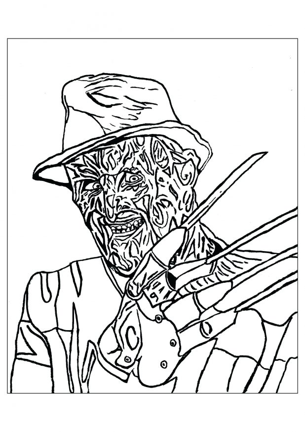 618x874 Astonishing Michael Myers Coloring Pages 33 On Coloring Pages