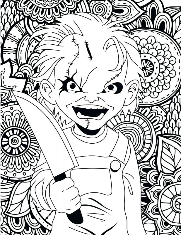 618x800 Astonishing Michael Myers Coloring Pages 76 On Free Coloring Book