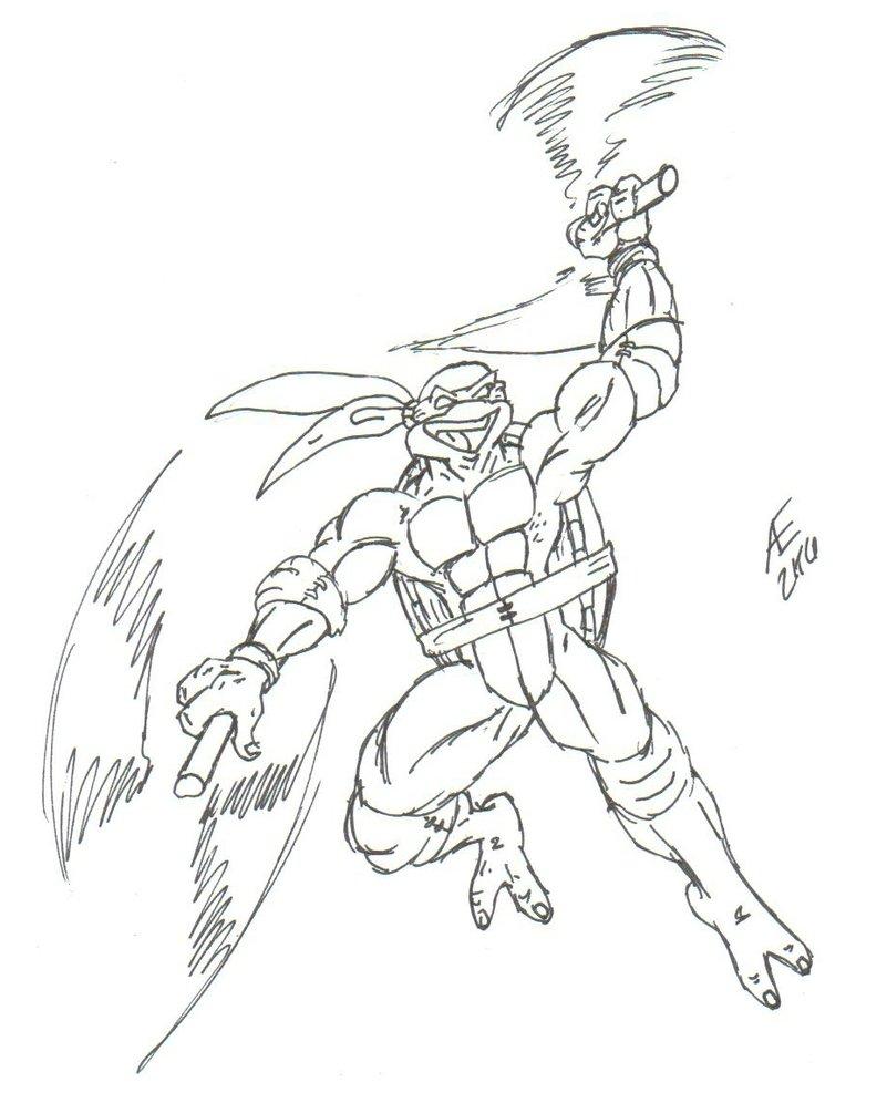 801x996 Michelangelo, The Ninja Turtle By King Taurus