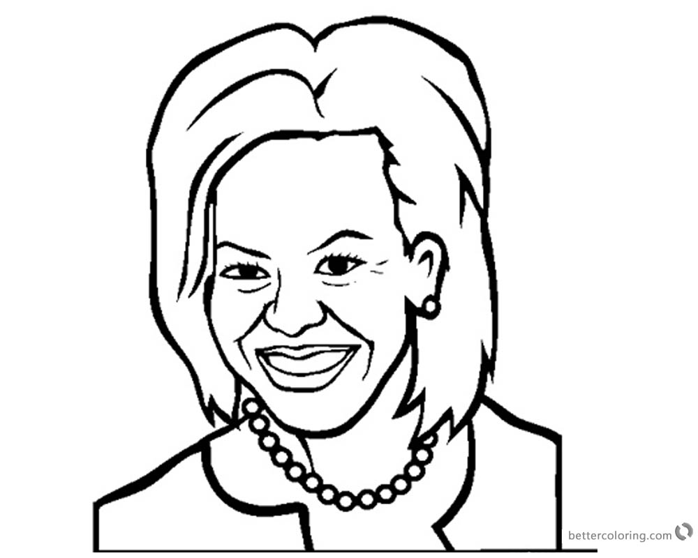1000x800 michelle obama coloring pages marvellous design