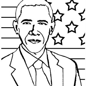 300x300 President Barack Obama Coloring Page And Quilt Block Pattern