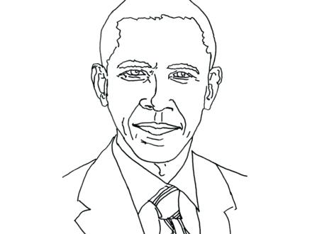 440x330 Printable President Obama Coloring Pages Affan