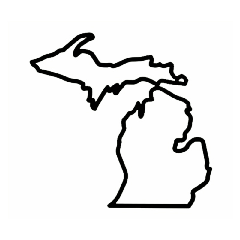 800x800 Hotmeini Michigan Mitten D Detroit Tigers Great Lakes Vinyl Decal