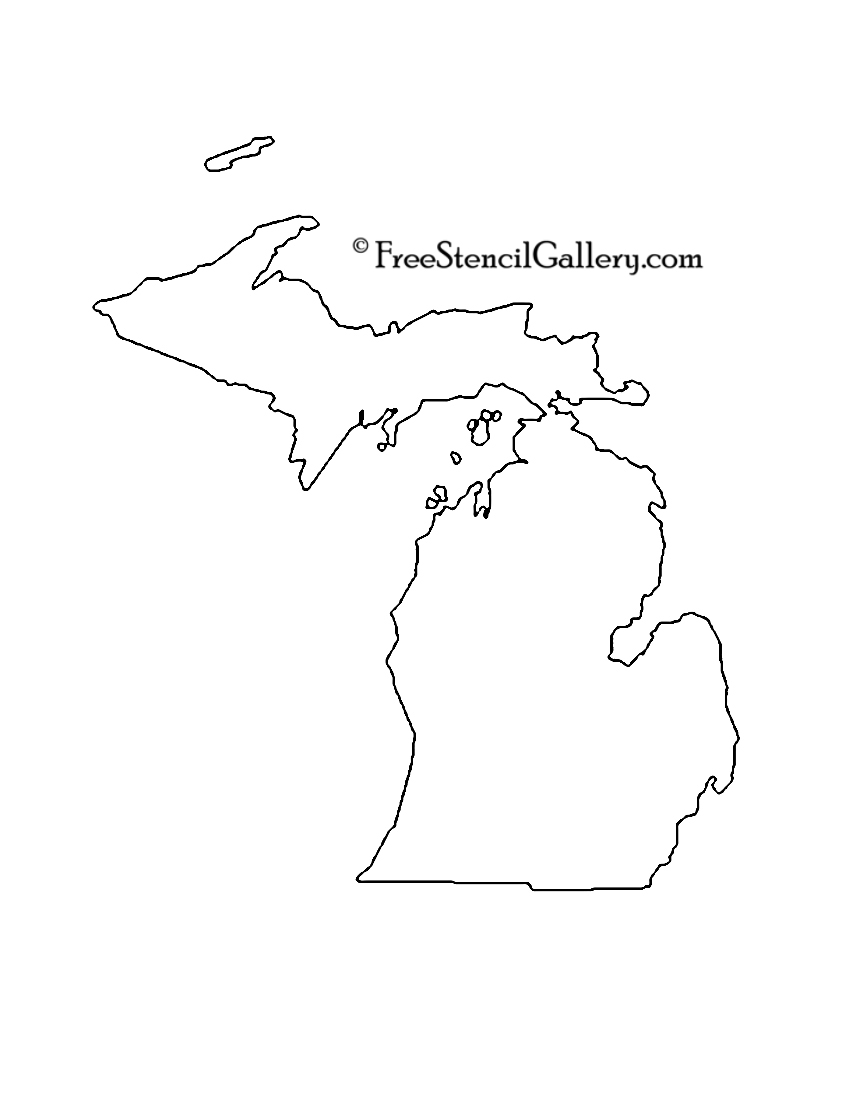 849x1100 Michigan Stencil Free Stencil Gallery