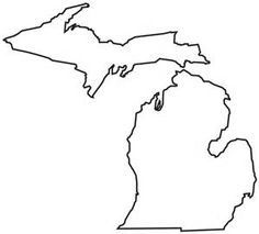 236x213 Michigan Pattern. Use The Printable Outline For Crafts, Creating