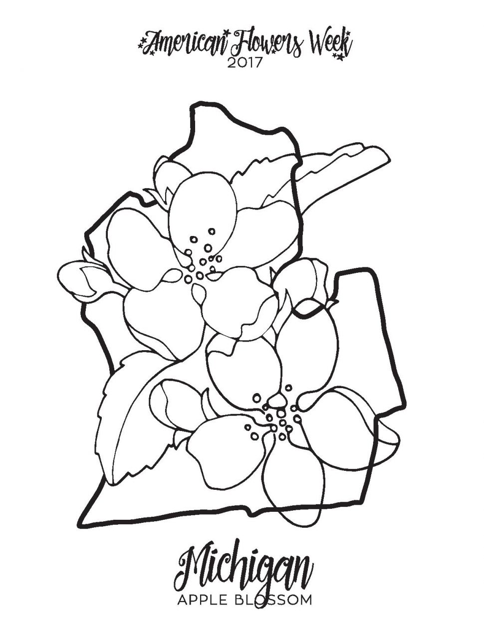 970x1255 Coloring Coloring Michigan Book Apple Blossom Coloring Page 7