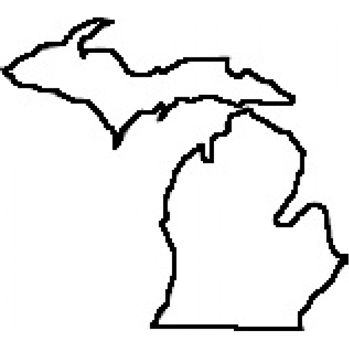700x700 Drawing Of The States Of Michigan