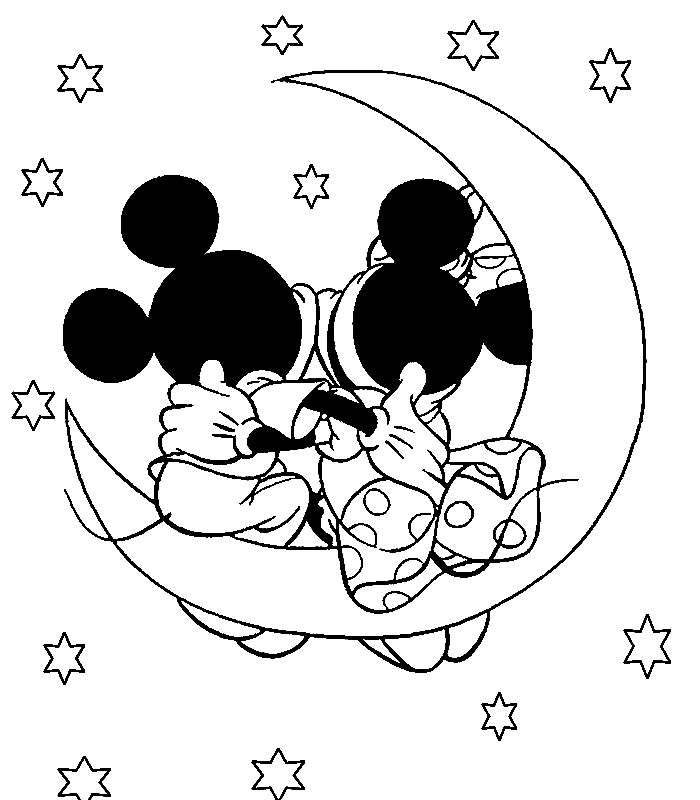 700x800 Disney Coloring Page Mickey and Minnie Mouse Coloring Pages