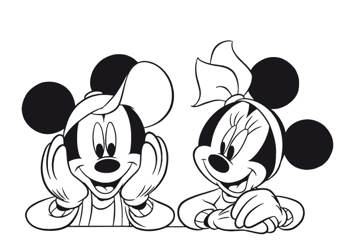 700x499 Mickey And Minnie Pose Coloring Page Bebo Pandco